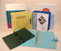 PVC ring binders to almost any size, style, print and capacity all manufactured in house to your specification.