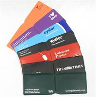 Oyster Wallets in coloured PVC with screenprint.